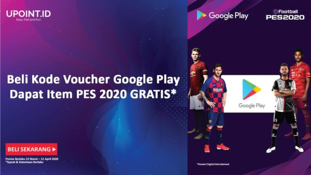 Upoint Id Bonus Special Items Efootball Pes 2020 Beli Kode Voucher Google Play Di Upoint Id