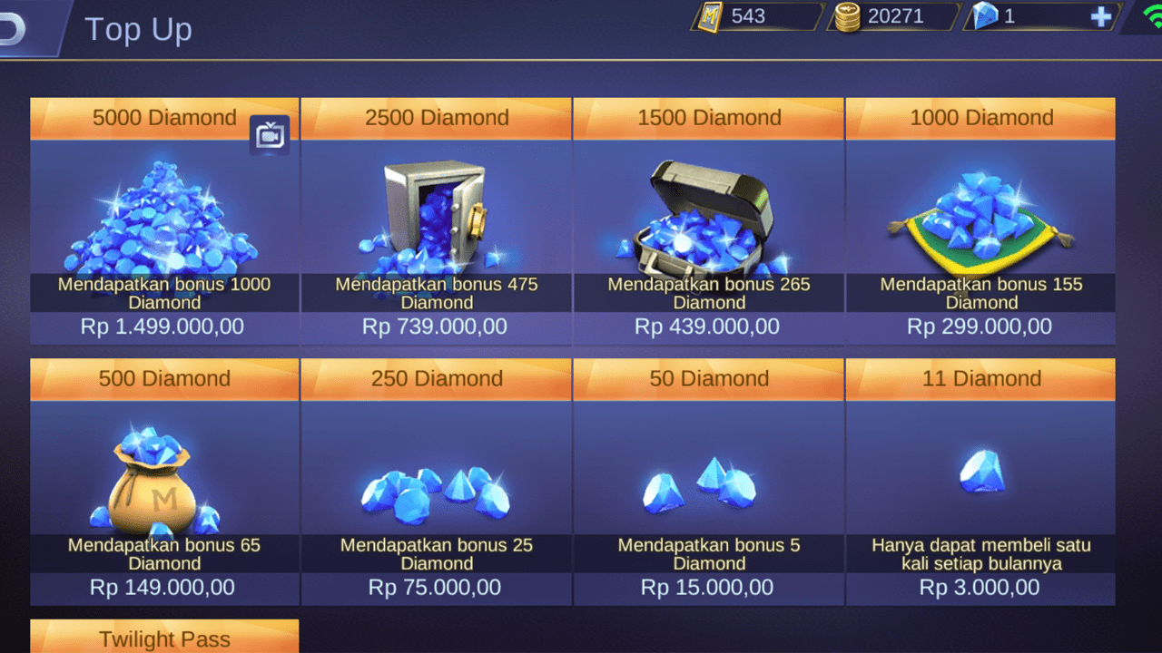 Upoint.id - Cara Top Up Mobile Legends Murah Paling Update 2019